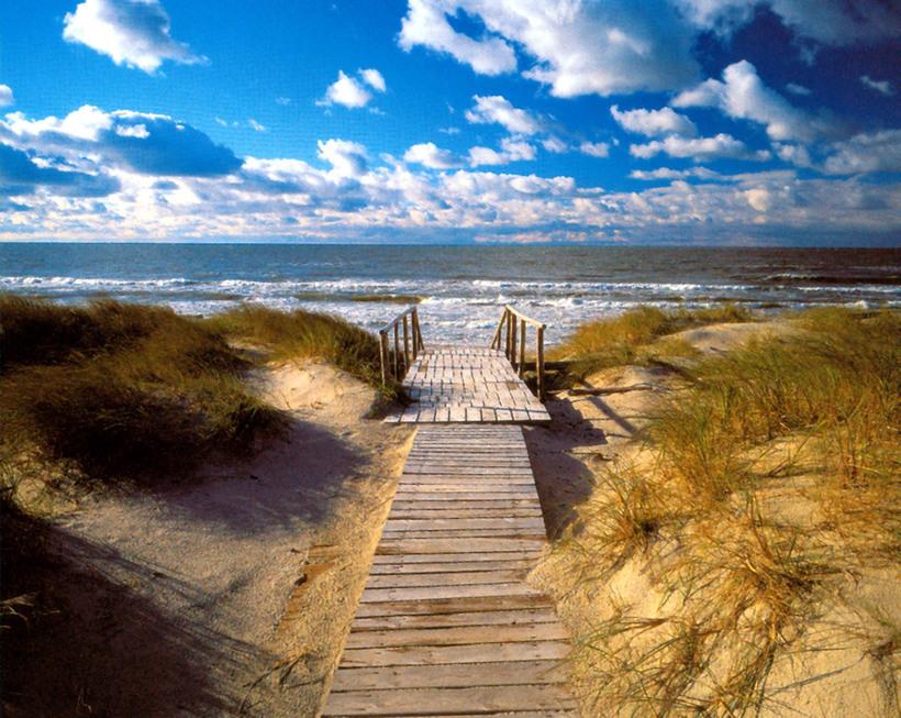 Виза в Литву - море, Куршская коса