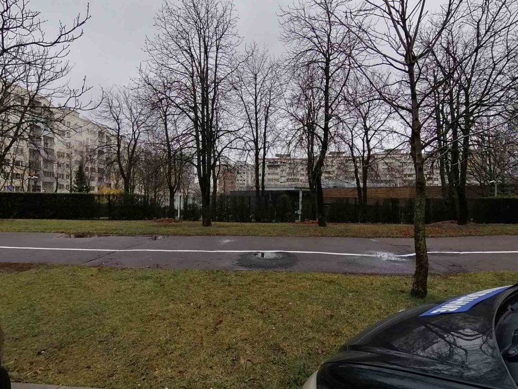 Посольство Литвы в Минске - вид с улицы Захарова, 68