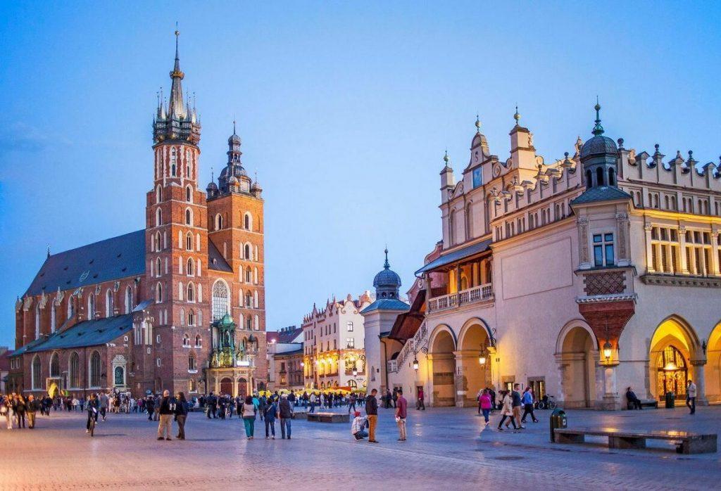 Польша - вид на город